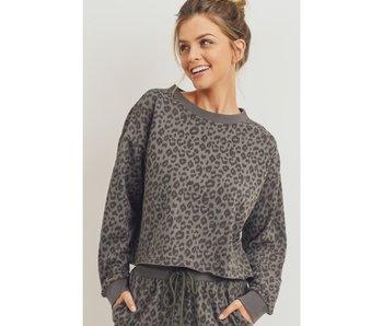 Paper Crane Leopard Print Sweatshirt