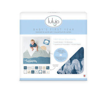 lulujo baby Baby's First Year blanket & card set  -I Will Move Mountains