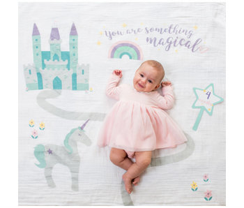 lulujo baby Baby's First Year blanket & card set  -Something Magical