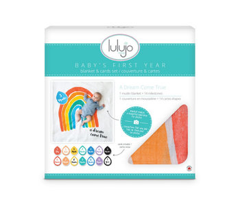lulujo baby Baby's First Year blanket & card set  -A Dream Come True