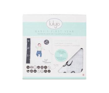 lulujo baby Baby's First Year blanket & card set  -Loved Beyond Measure