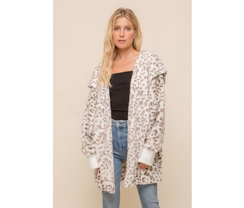 Hem and Thread Oversized Hoodie Jacket