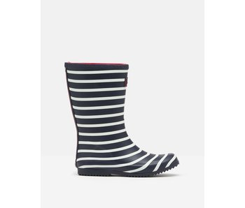 Joules Roll Up Welly Joules Rain Boots -Navy Stripe