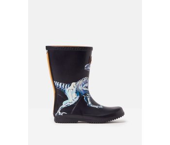 Joules Joules Kids Roll Up Welly Navy Raptor
