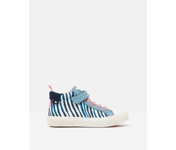 Joules Joules Coast Pump Canvas Mid High Top Sneaker -Zebra
