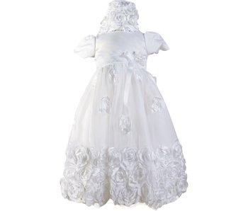 Angeline Kids Infant Girls Christening Baptism Dress With Bonnet - Rosalina