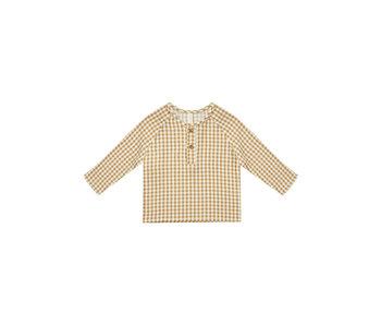Quincy Mae Quincy Mae Zion Shirt -Honey Gingham