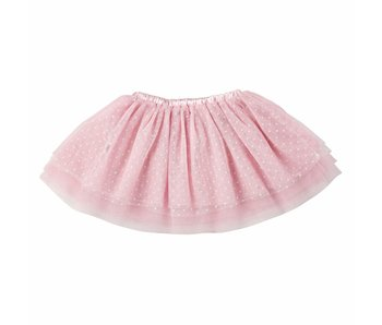 Stephan Baby Pink with white polka dots tulle tutu -size 6-18M