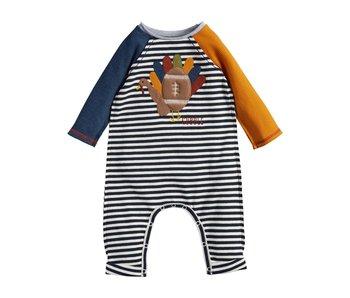Mud Pie Turkey Football baby bodysuit