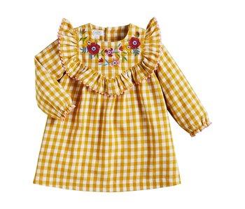 Mud Pie Girl's Yellow Gingham Dress