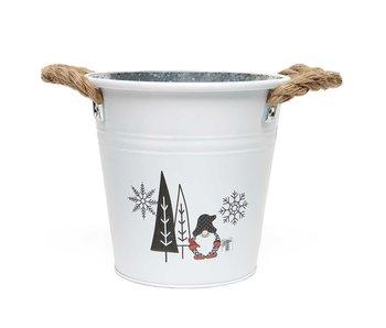 MeraVic Round Bucket Gnome & Trees