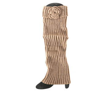 MeraVic Tall boot cuff with flower
