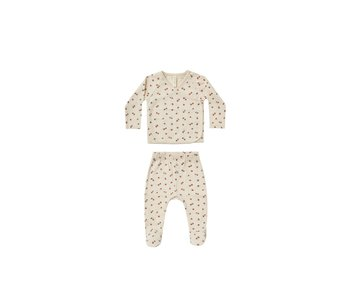Quincy Mae Quincy Mae Pointelle wrap top & pant set