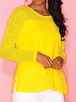 Elena Wang Mesh Sleeve Sweater