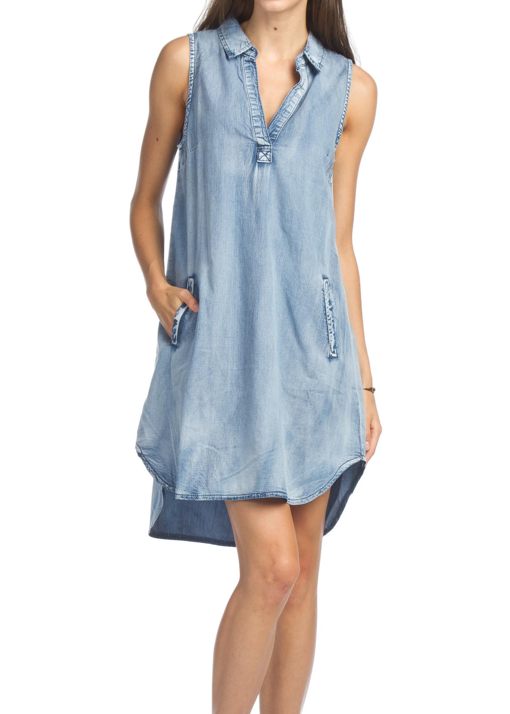 Papillon Eastern Imports Sleeveless Shirt Dress