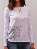Alison Sheri Long Sleeved Top w/Foiled Zebra