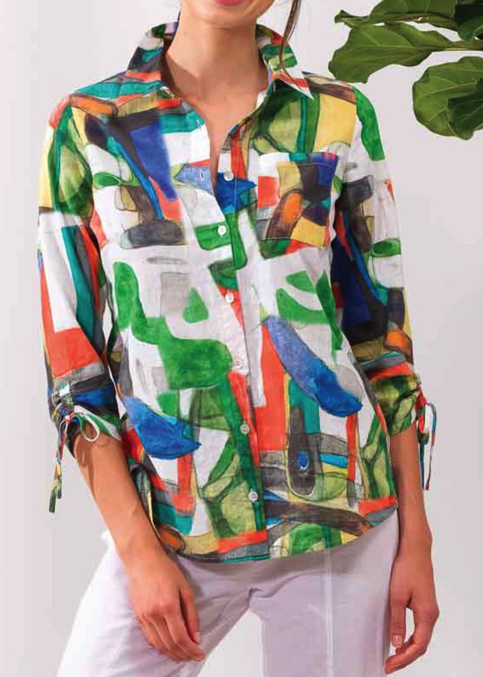 Alison Sheri Tropical Print Blouse