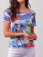 Alison Sheri Colourful Print T-Shirt