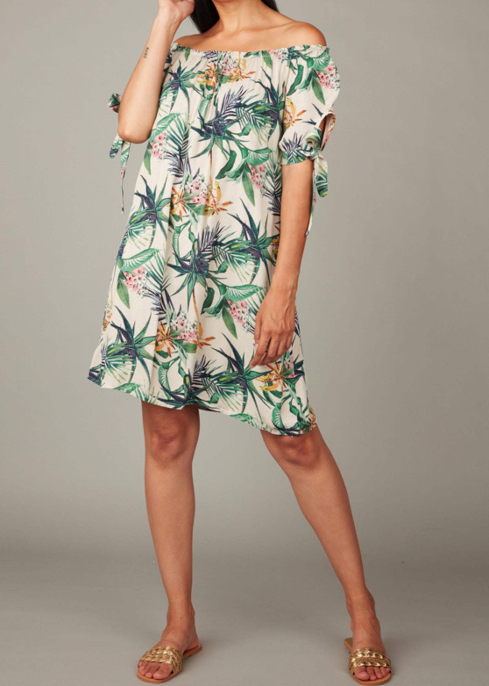 pistache Bamboo Print Dress