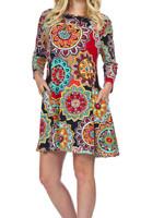 Papillon Eastern Imports Mandala Print Dress