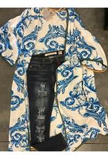 Flying Tomato Printed Kimono