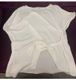 Naked Zebra NZ Side Tie Short Sleeve Blouse