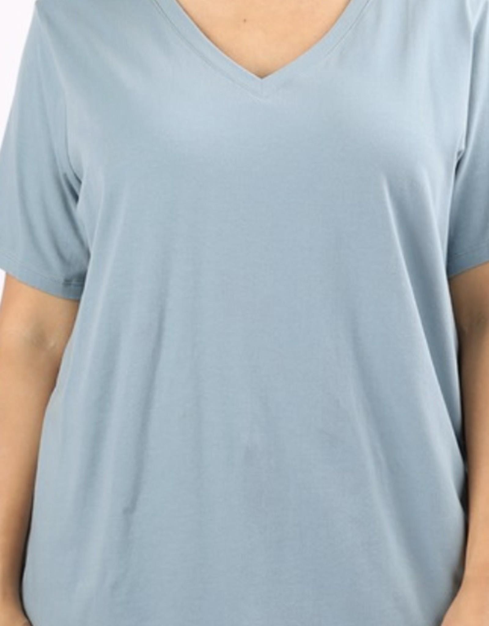 Zenana Cotton V-Neck T-Shirt