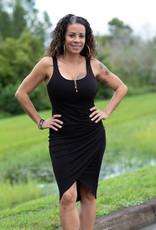Elan Elan Tank Dress with Ruched Side