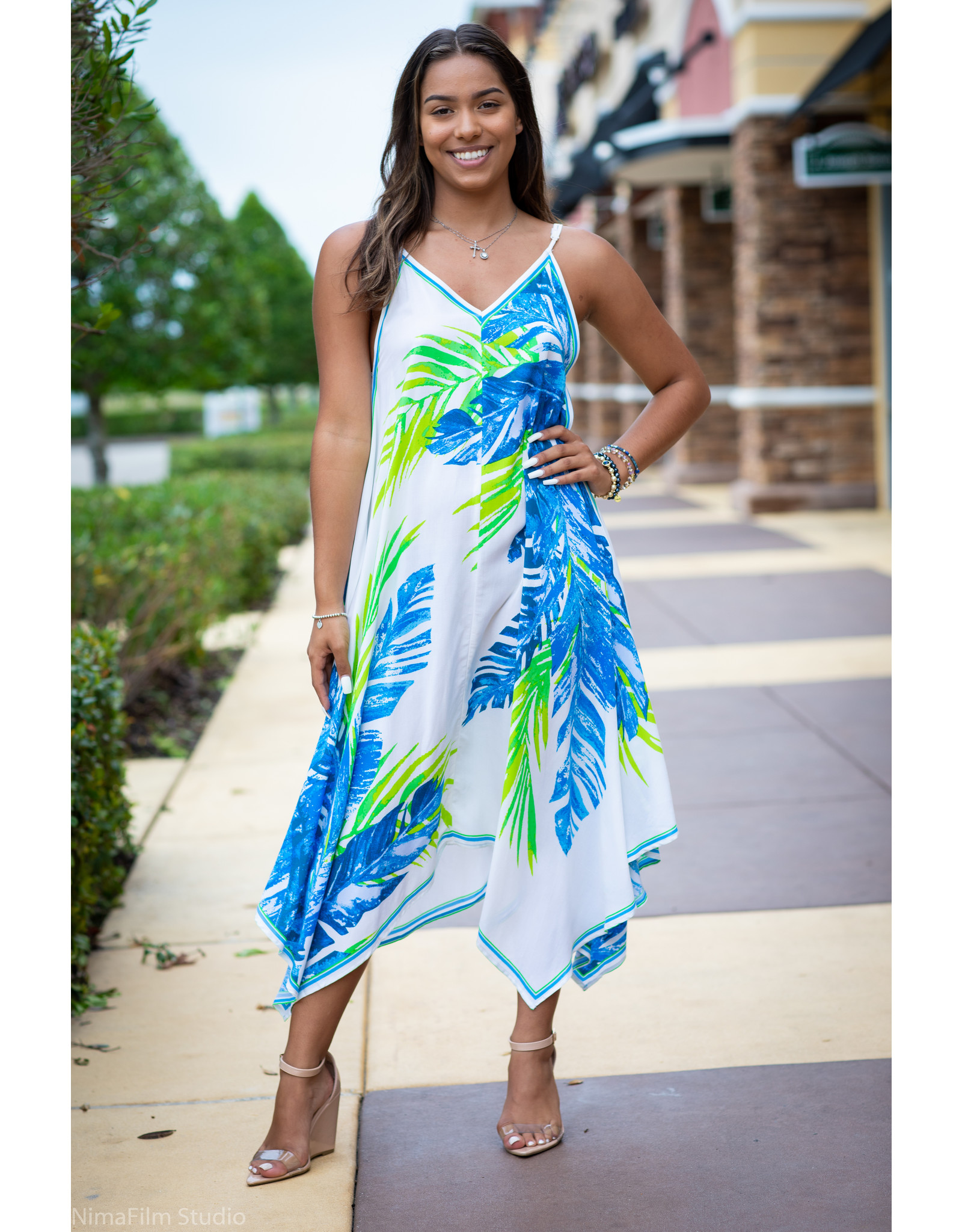 Tropical Handy Midi Dress