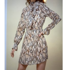 Hyfve Tie Neck Long Sleeve Dress