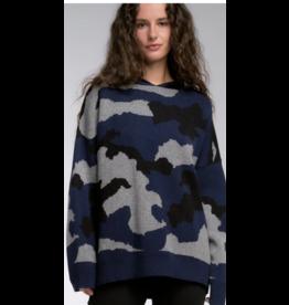 Elan Elan Camo Oversized Hoodie Sweater