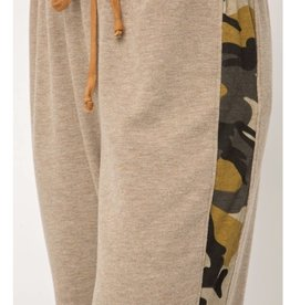 Mystree Mystree Taupe Camo Sweatpants