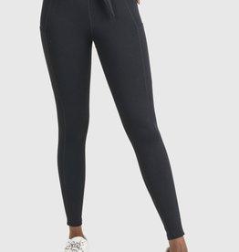 Mono B Tie Front Highwaist  Leggings with Pockets