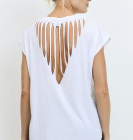 Mono B Webbed Cut Out Back Top
