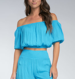 Elan Rayon Gauze Off The Shoulder Top
