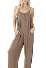 Zenana Jumpsuit with Side Slit