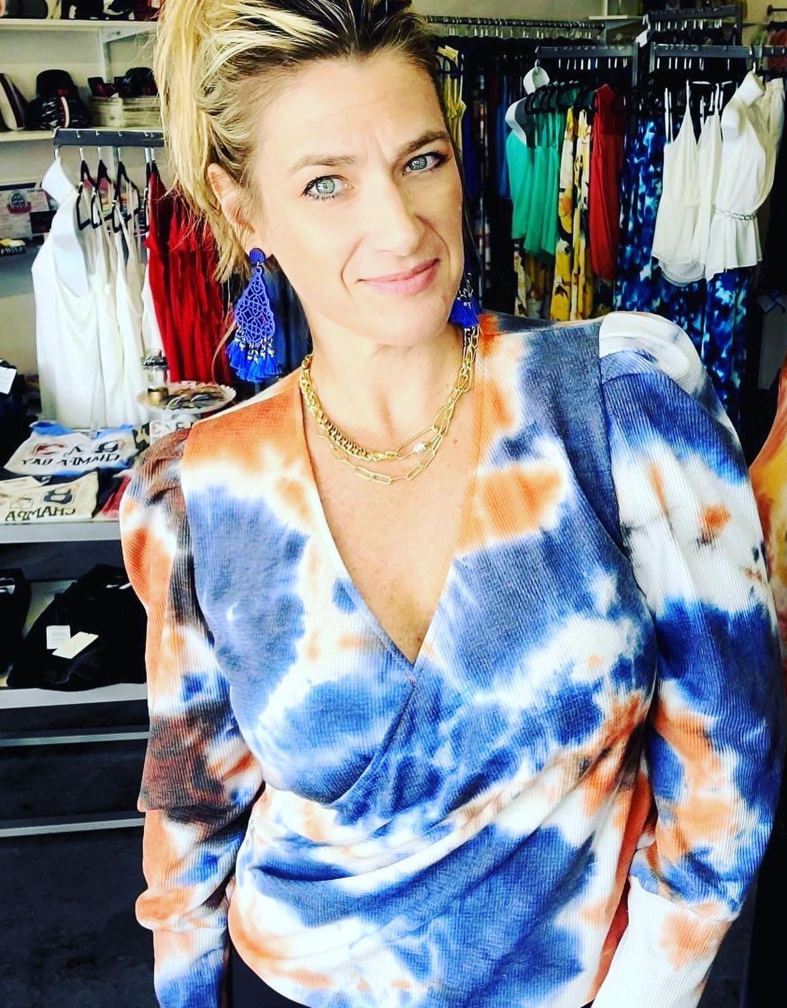 Veronica M  Cross Over Thermal Tie Dye