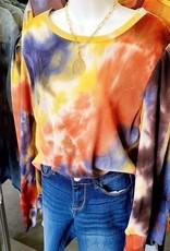 Veronica M Puff Sleeve Tie Dye Thermal Top
