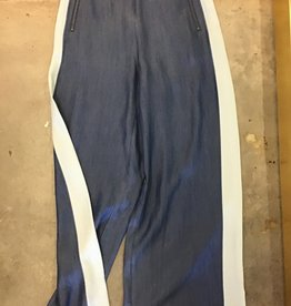 Naked Zebra NZ Wide Leg Side Seam Contrast Tuxedo Pants