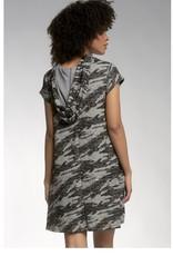 Elan Elan Cap Sleeve Dress with Hood