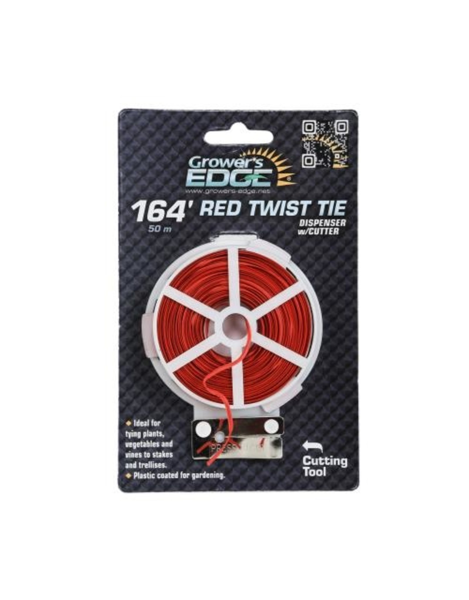 Growers Edge Grower's Edge Red Twist Tie Dispenser w/ Cutter 164 ft