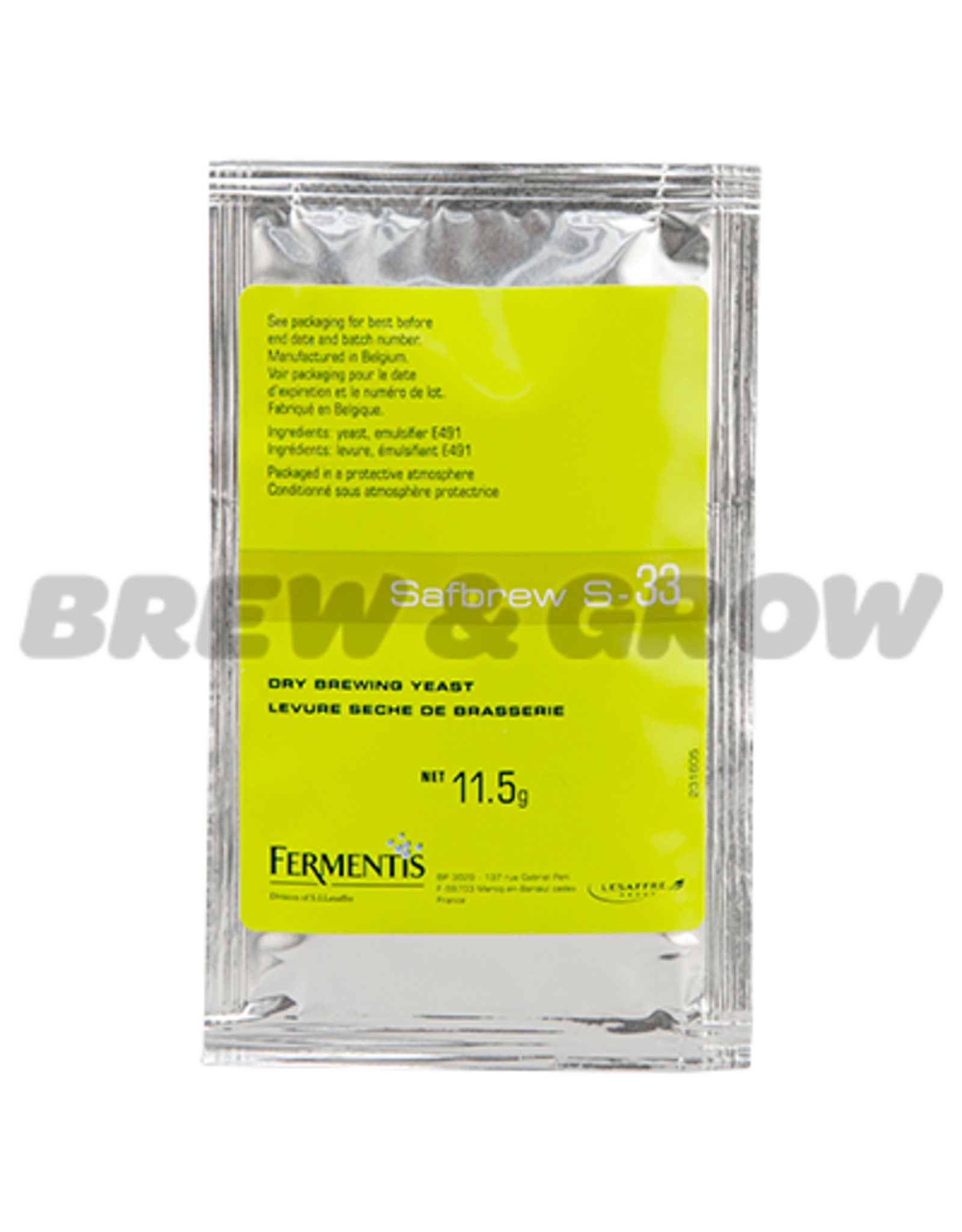 Safbrew S-33 Dry Brewing Yeast