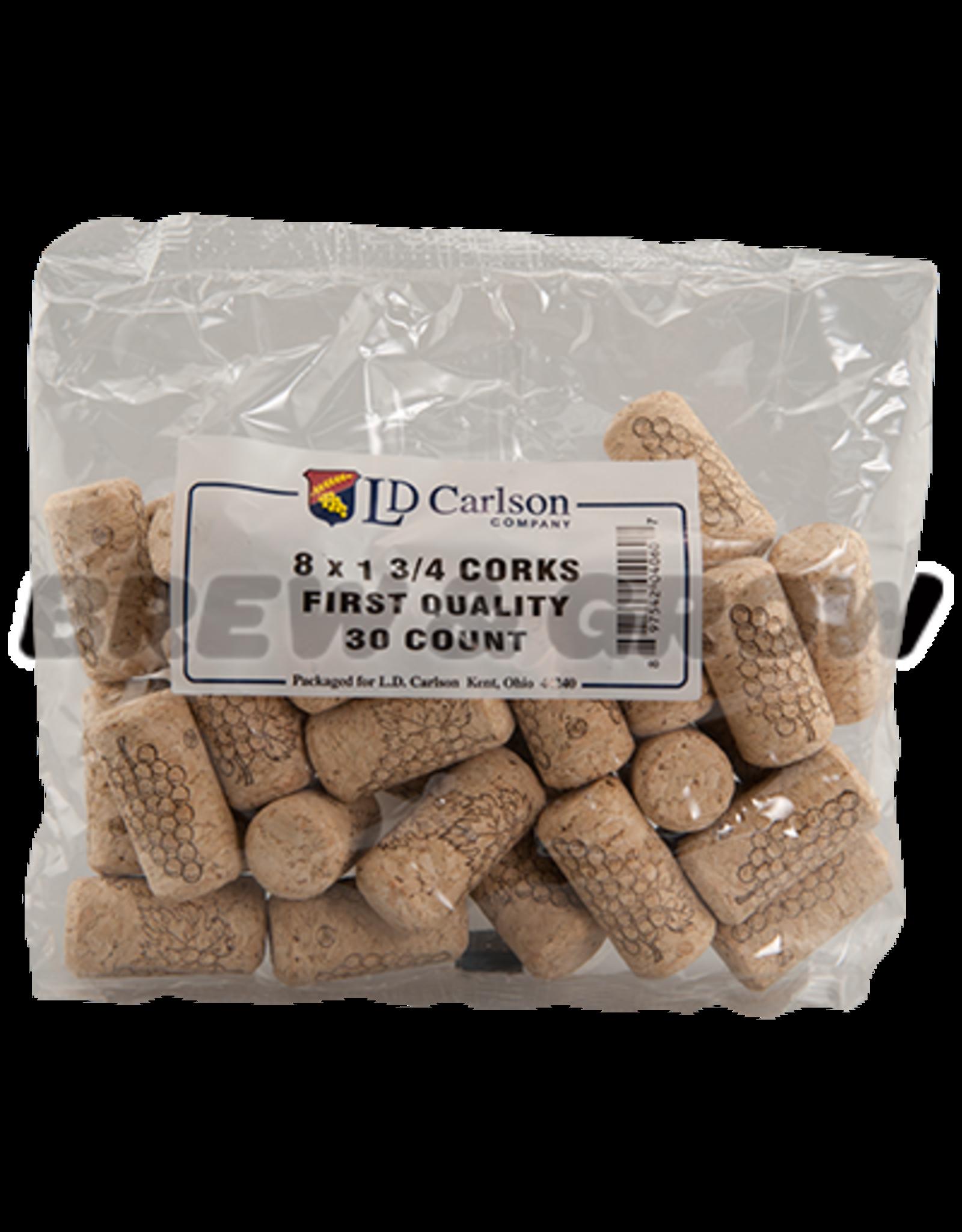 Corks 8 X 1 3/4 (30/Bag)