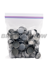 Caps - Beer Silver Crown Oxy Barrier (144/Bag)