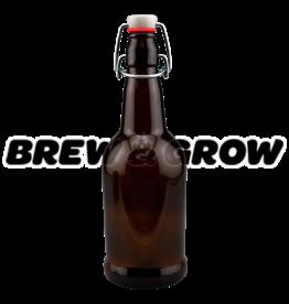 Bottle Amber Flip-Top 16 oz (12/cs)