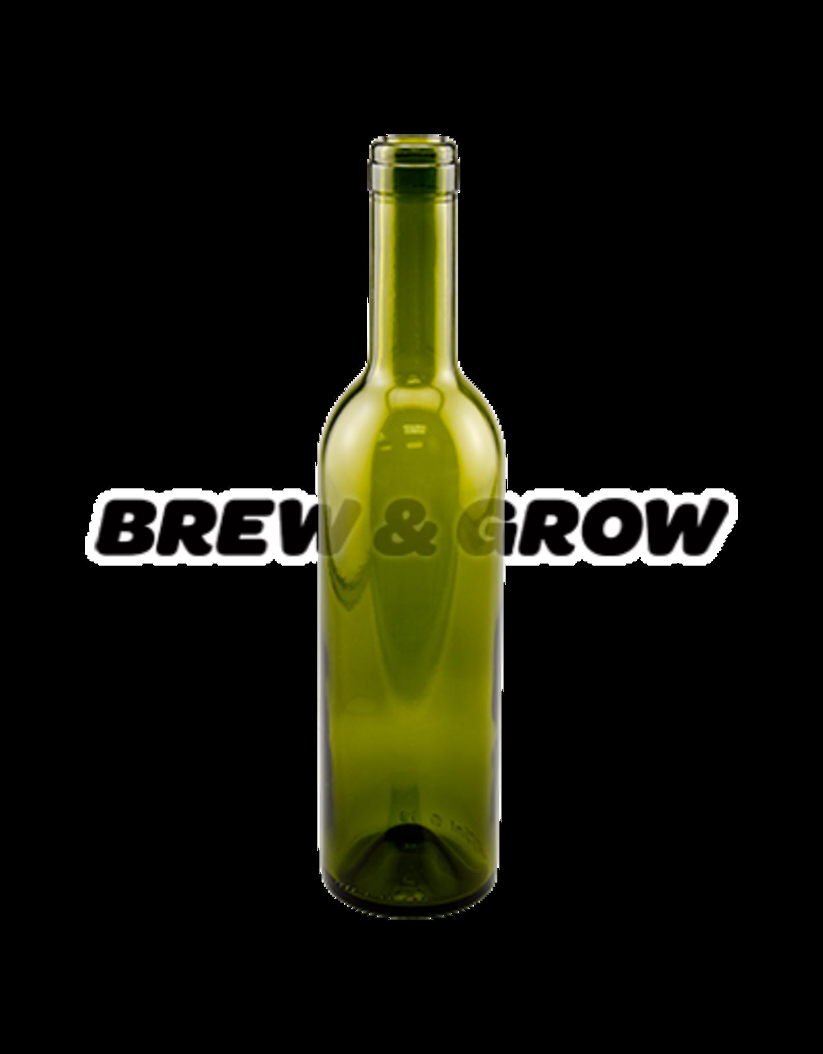 Wine Bottle 375mL-Green  (12)