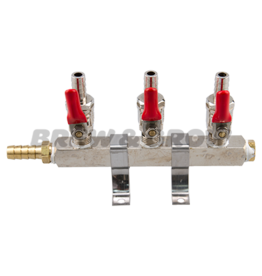 "Air Distributor - 3-Way w/ 5/16"" Barb"