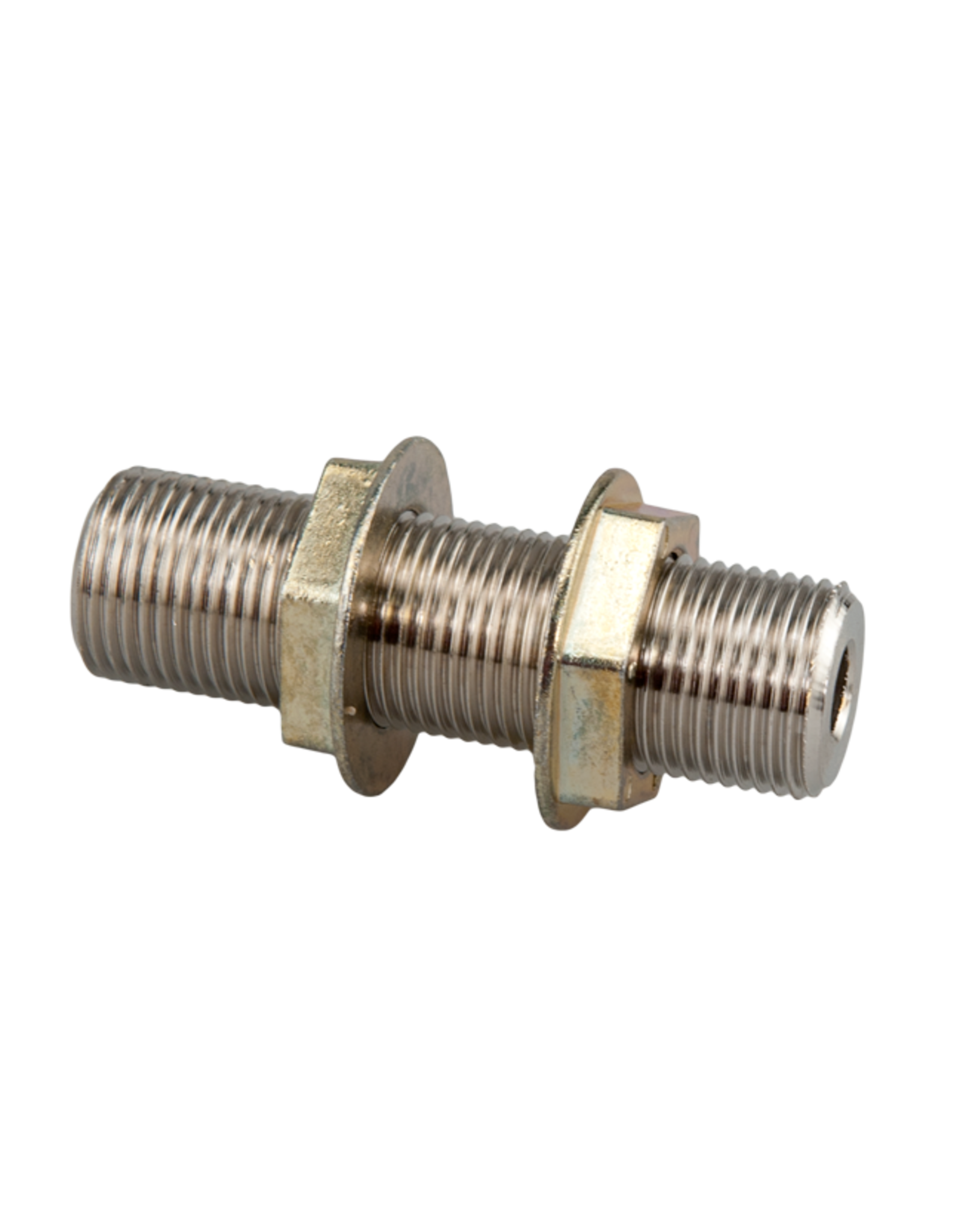 """Wall Coupling  3"""" with 3/8"""" Bore - Plated Brass"""