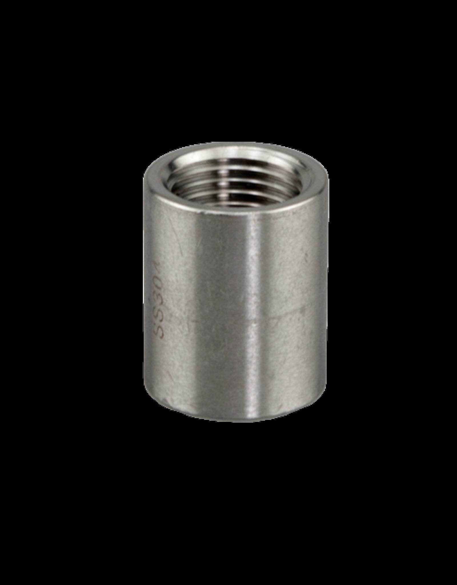 """Coupler Full 1/2"""" Stainless Steel"""