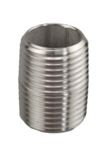 "Nipple - 1/2""NPT  X 1"" Stainless Steel (No Hex)"